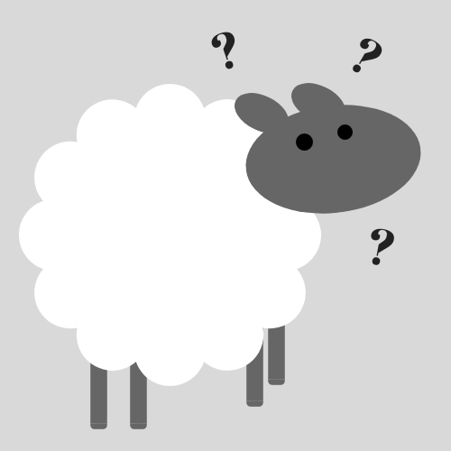 Seeking Christ Sheep Logo on Gray Background