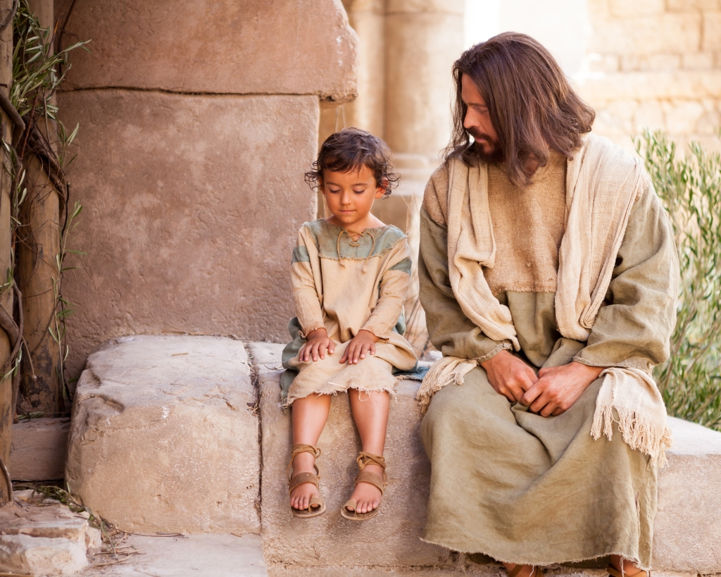 Jesus Sitting with Young Child