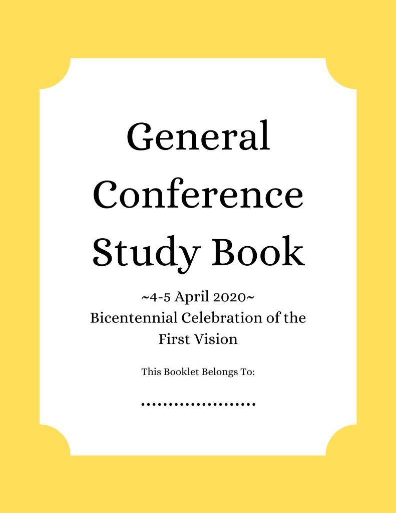General Conference Study Book April 2020